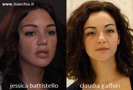 Somiglianza tra Jessica Battistello e Claudia Gaffuri