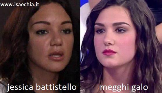 Somiglianza tra Jessica Battistello e Megghi Galo