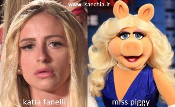 Somiglianza tra Katia Fanelli e Miss Piggy