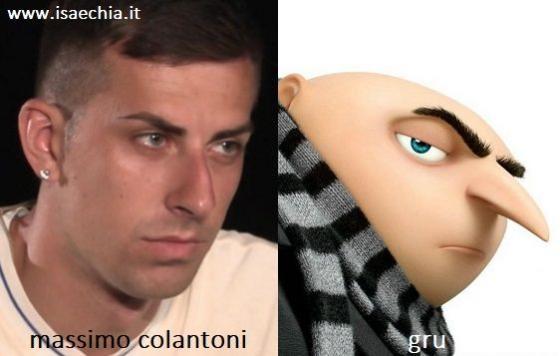 Somiglianza tra Massimo Colantoni e Gru di 'Cattivissimo Me'