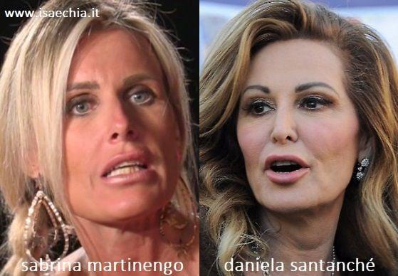 Somiglianza tra Sabrina Martinengo e Daniela Santanché