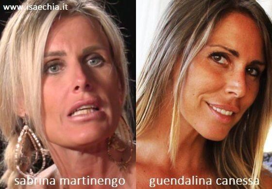 Somiglianza tra Sabrina Martinengo e Guendalina Canessa