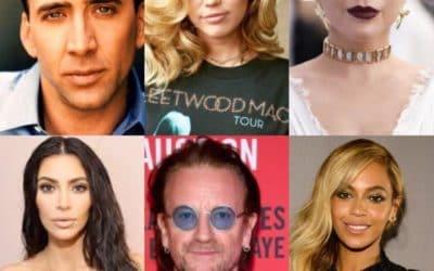 Nicolas Cage - Miley Cyrus - Lady Gaga - Kim Kardashian - Bono - Beyoncé