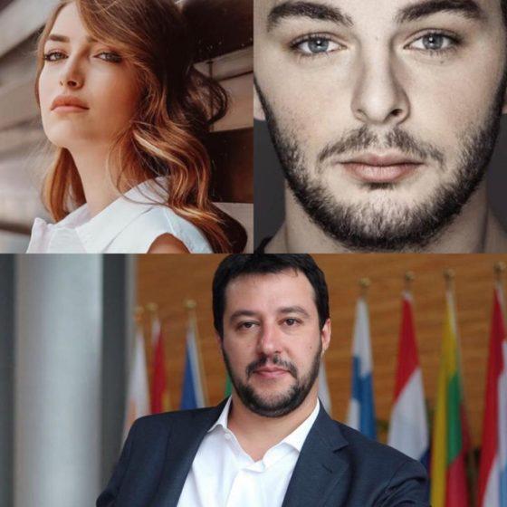 Nilufar Addati - Lorenzo Fragola - Matteo Salvini
