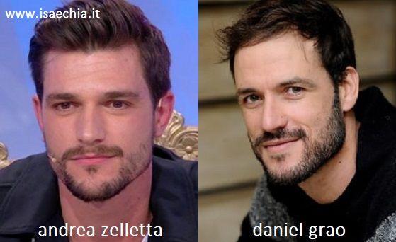 Somiglianza tra Andrea Zelletta e Daniel Grao