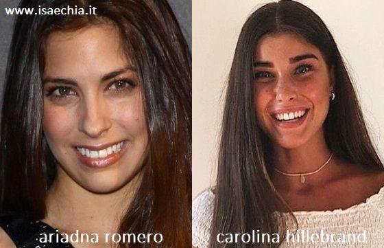 Somiglianza tra Ariadna Romero e Carolina Hillebrand