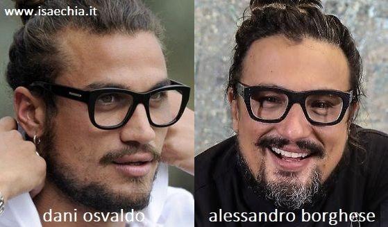 Somiglianza tra Dani Osvaldo e Alessandro Borghese