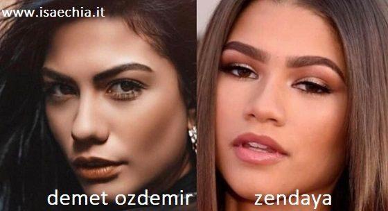 Somiglianza tra Demet Ozdemir e Zendaya