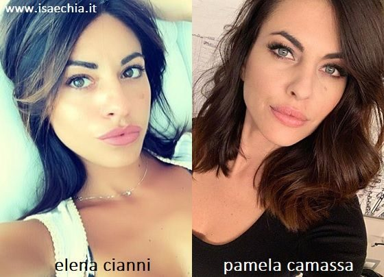 Somiglianza tra Elena Cianni e Pamela Camassa