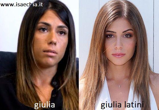 Somiglianza tra Giulia e Giulia Latini