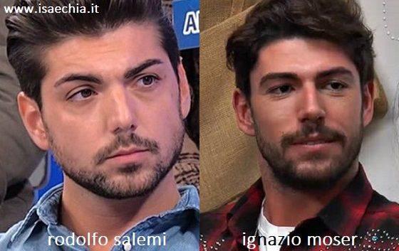 Somiglianza tra Ignazio Moser e Rodolfo Salemi