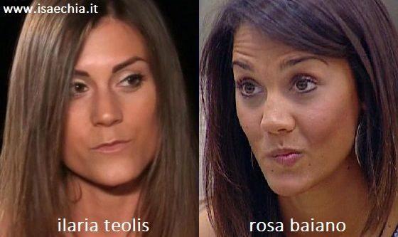 Somiglianza tra Ilaria Teolis e Rosa Baiano