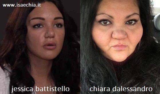 Somiglianza tra Jessica Battistello e Chiara Dalessandro