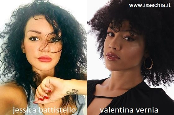 Somiglianza tra Jessica Battistello e Valentina Vernia