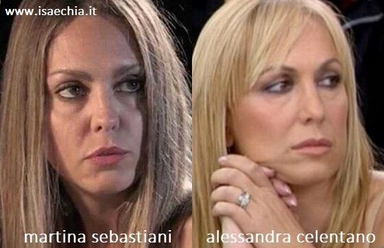 Somiglianza tra Martina Sebastiani e Alessandra Celentano
