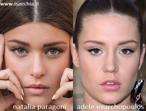 Somiglianza tra Natalia Paragoni e Adele Exarchopoulos
