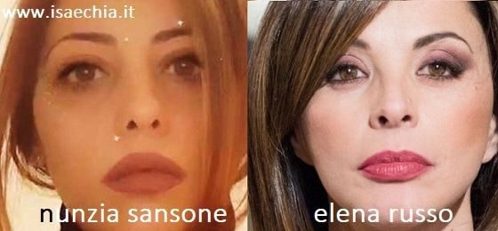 Somiglianza tra Nunzia Sansone e Elena Russo
