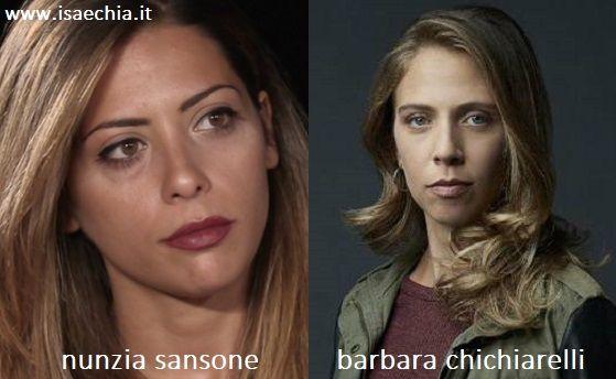 Somiglianza tra Nunzia Sansone e Livia Adami di 'Suburra'