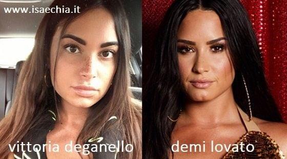 Somiglianza tra Vittoria Deganello e Demi Lovato