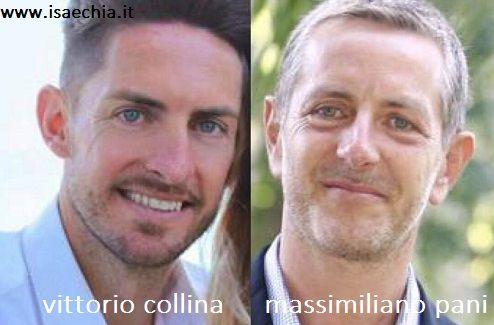 Somiglianza tra Vittorio Collina e Massimiliano Pani