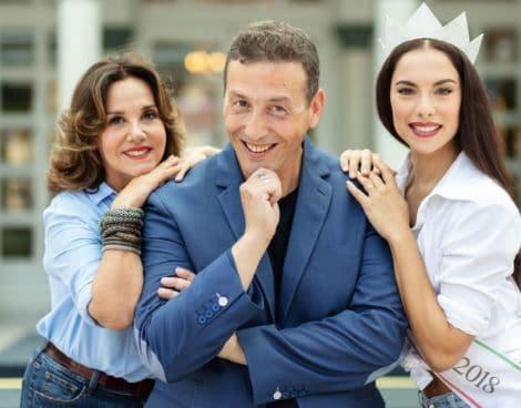 Patrizia Mirigliani, Alessandro Greco e Carlotta Maggiorana
