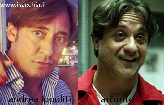 Somiglianza tra Andrea Ippoliti e Arturito