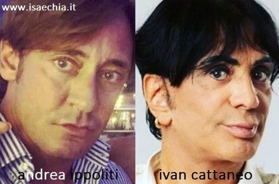 Somiglianza tra Andrea Ippoliti e Ivan Cattaneo