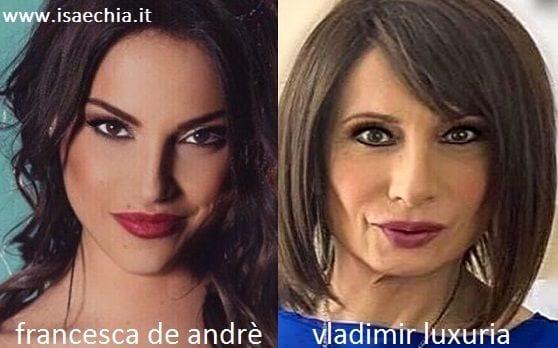 Somiglianza tra Francesca De Andrè e Vladimir Luxuria