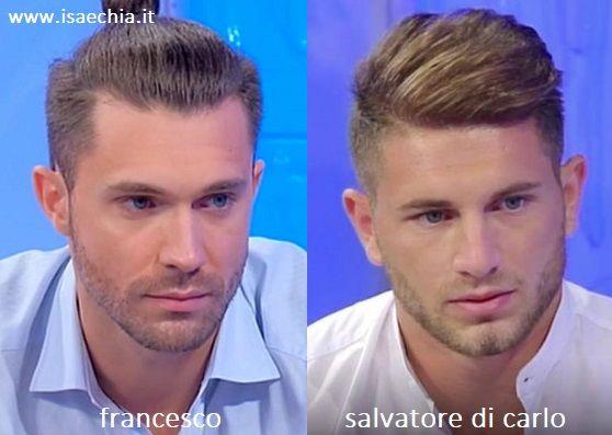 Somiglianza tra Francesco, corteggiatore di Sara Tozzi a 'Uomini e Donne', e Salvatore Di Carlo