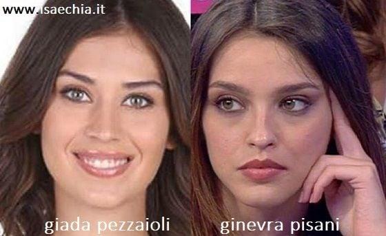 Somiglianza tra Giada Pezzaioli e Ginevra Pisani