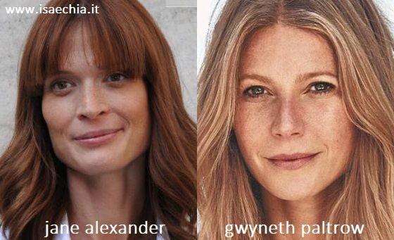 Somiglianza tra Jane Alexander e Gwyneth Paltrow