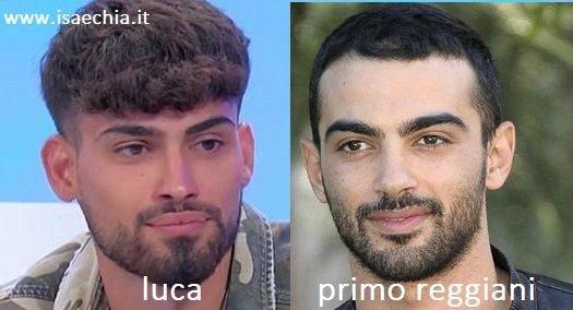 Somiglianza tra Luca e Primo Reggiani