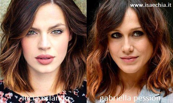 Somiglianza tra Lucia Orlando e Gabriella Pession