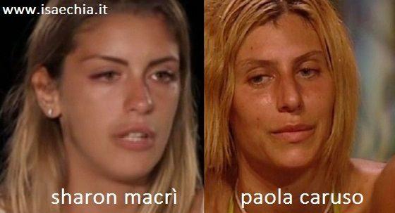 Somiglianza tra Sharon Macrì e Paola Caruso