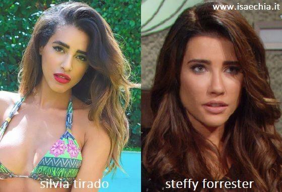 Somiglianza tra Silvia Tirado e Steffy Forrester di 'Beautiful'