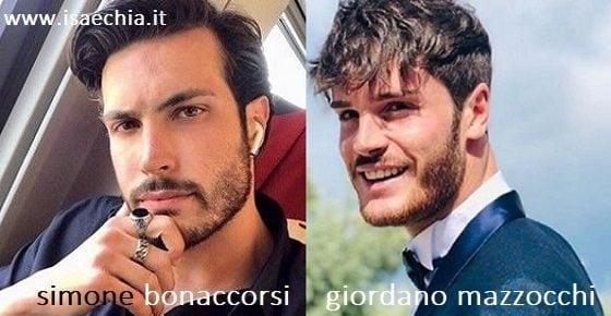 Somiglianza tra Simone Bonaccorsi e Giordano Mazzocchi