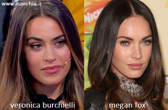 Somiglianza tra Veronica Burchielli e Megan Fox