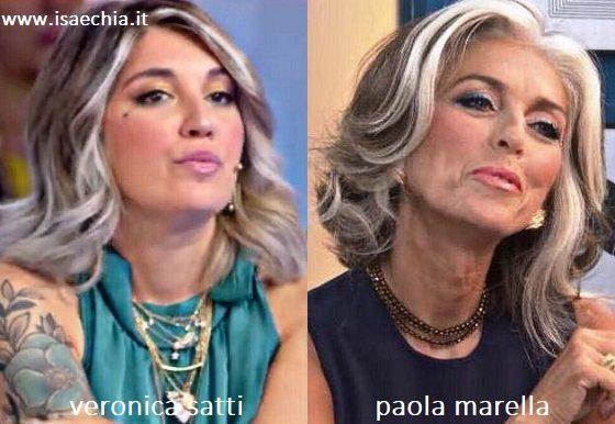 Somiglianza tra Veronica Satti e Paola Marella