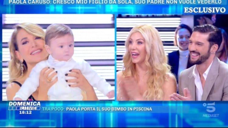 """Paola Caruso ospite a """"Domenica Live"""", ancora dichiarazioni shock sull'ex."""