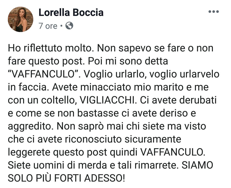 Lorella Boccia e Niccol Presta vittime di una rapina Le foto sconvolgenti