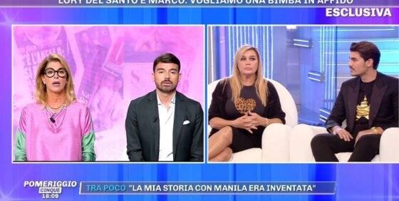 Pomeriggio 5 - Lory Del Santo e Marco Cucolo