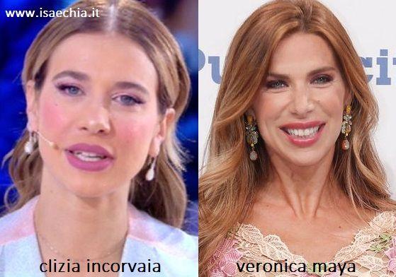 Somiglianza tra Clizia Incorvaia e Veronica Maya
