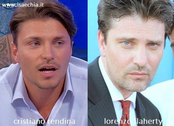 Somiglianza tra Cristiano Rendina e Lorenzo Flaherty