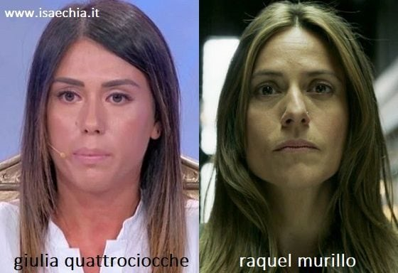 Somiglianza tra Giulia Quattrociocche e Raquel Murillo de 'La Casa di Carta'