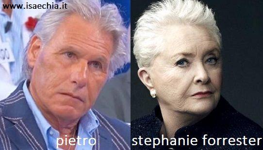 Somiglianza tra Pietro e Stephanie Forrester