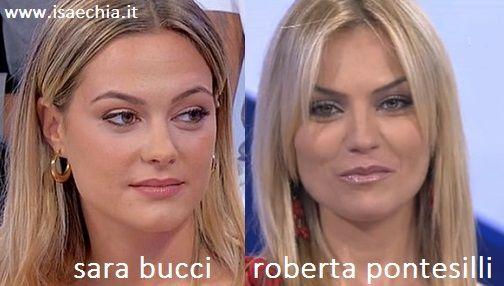 Somiglianza tra Sara Bucci e Roberta Pontesilli