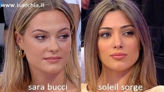 Somiglianza tra Sara Bucci e Soleil Sorge