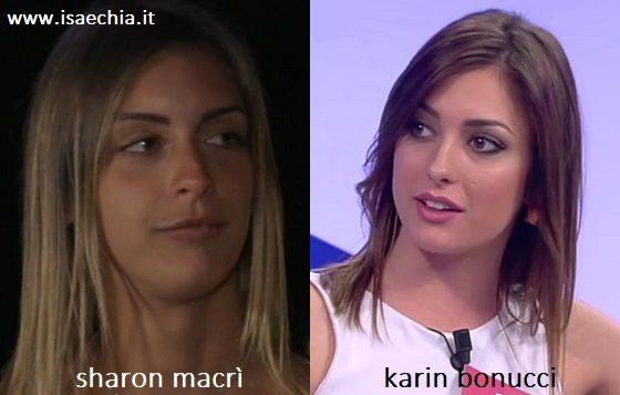 Somiglianza tra Sharon Macrì e Karin Bonucci