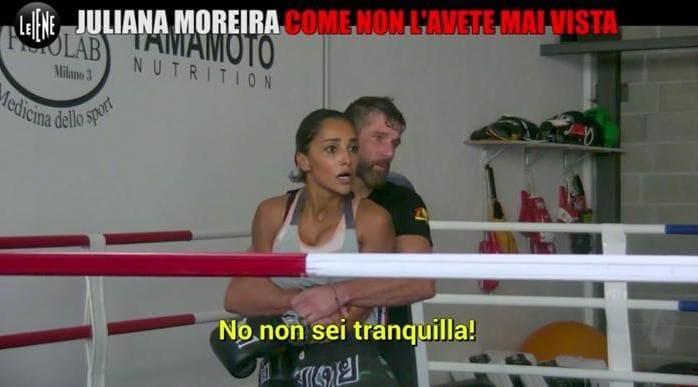 Juliana Moreira infuriata col marito allo scherzo de Le Iene