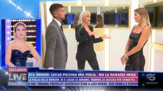 Live - Non è la D'Urso - Eva Henger, Mercedesz Henger e Lucas Peracchi